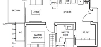 midwood-1-bedroom-study-floor-plan-(1+1)-a-singapore